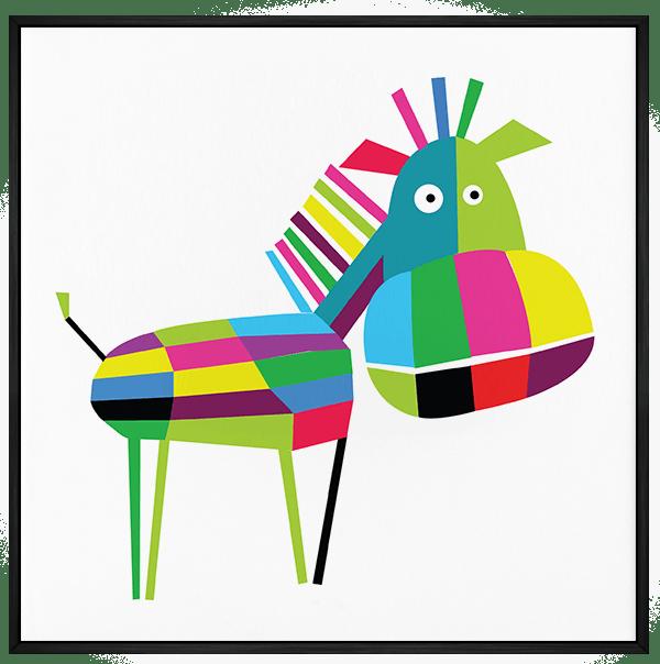 Quadro Infantil Cavalo Colorido