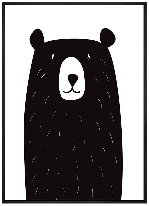 Quadro Infantil Urso Preto