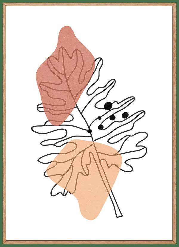 Quadro Abstrato Plantas Folhagem