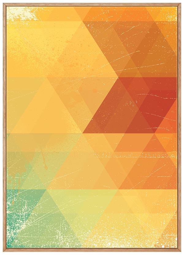 Quadro Abstrato Geométrico Amarelo