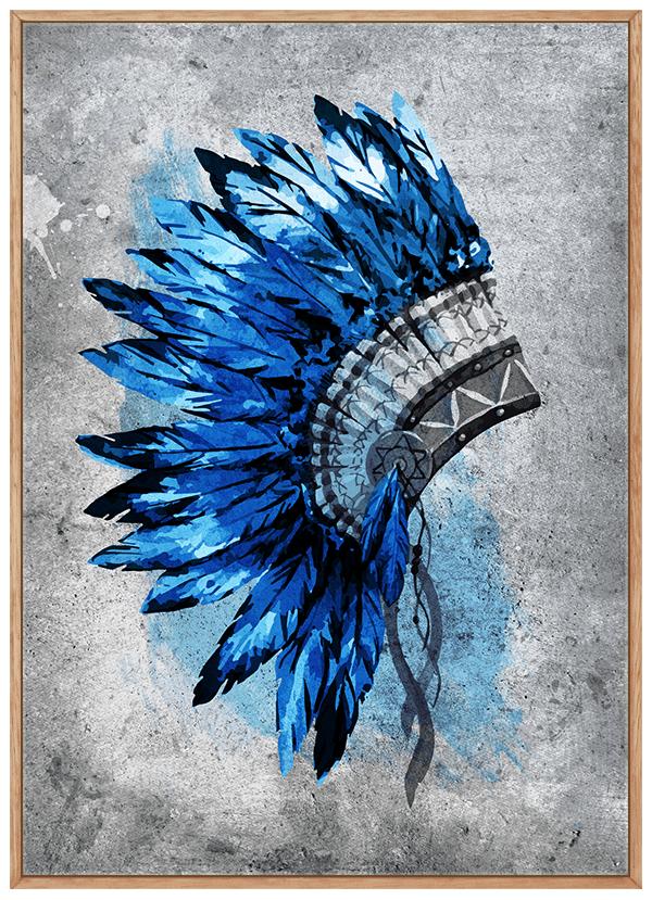 Quadro Cocar Azul