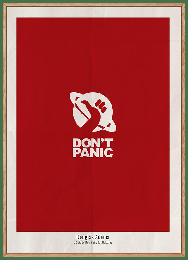 Quadro Decorativo Douglas Adams Don't Panic