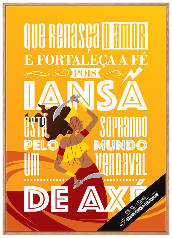 Quadro Umbanda Orixá Iansã - Sandro Luiz