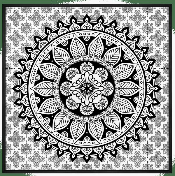 Quadro Mandala Preto e Branco