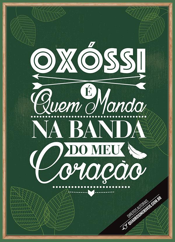 Quadro Umbanda Orixá Oxóssi - Fundo Verde