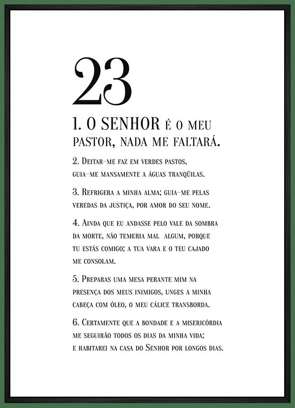 Quadro Decorativo Bíblico Salmo 23