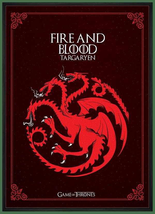 Quadro Game of Thrones Targaryen