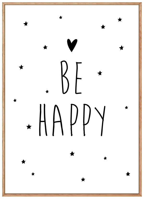 Quadro Decorativo Infantil Be Happy