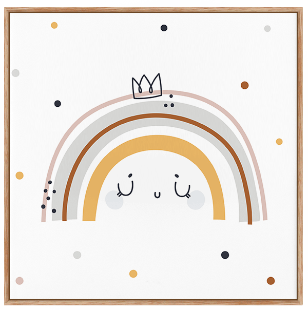 Quadro Decorativo Infantil Arco-Iris - Claro Neutro