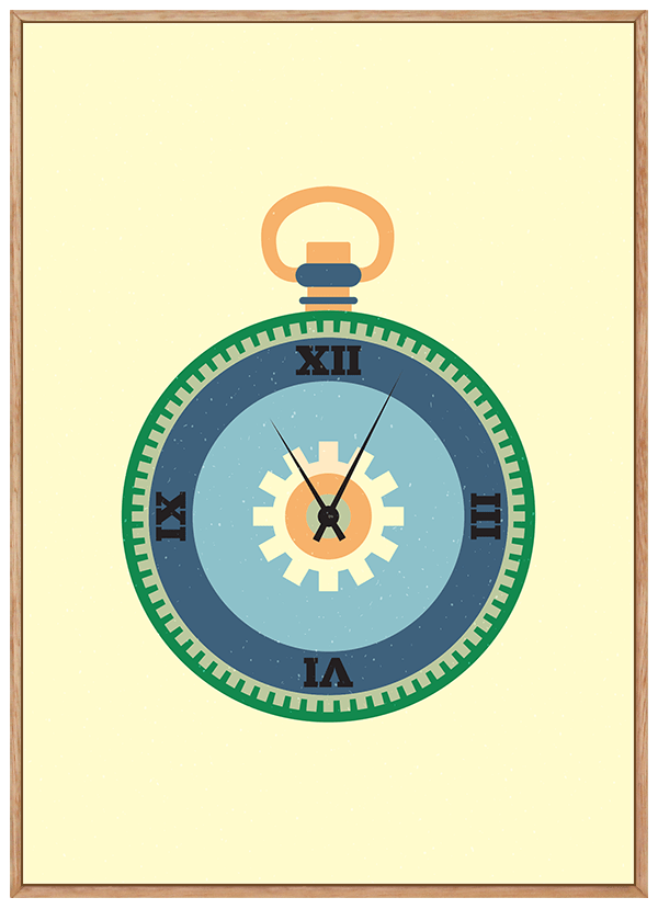 Quadro Infantil Relógio Steampunk 2