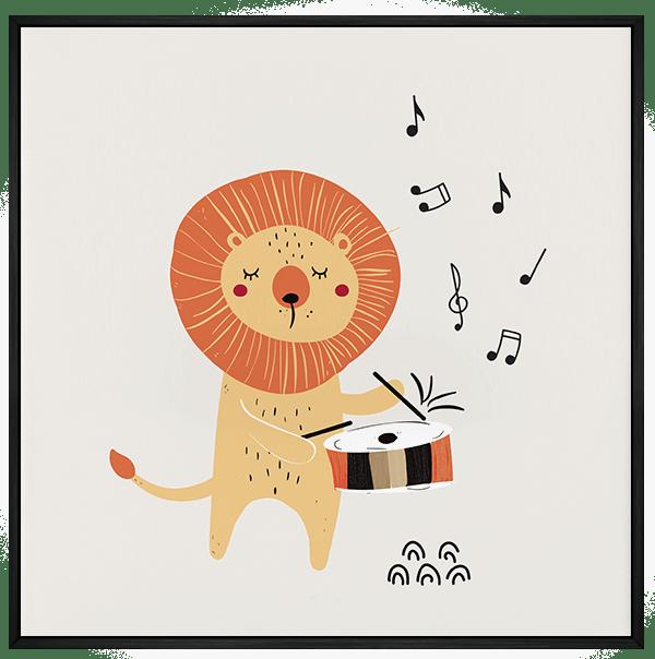 Quadro Decorativo Infantil Leão Musical 2