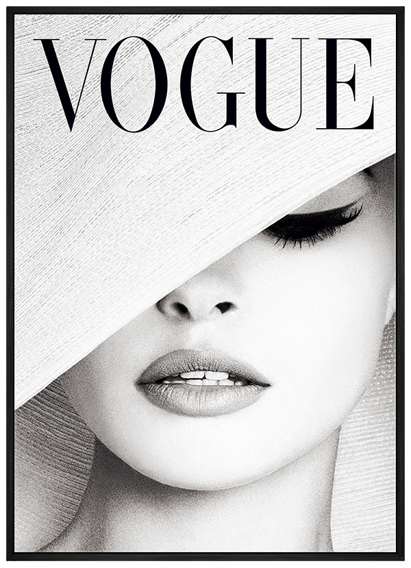 Quadro Capa Vogue Fashion Moda
