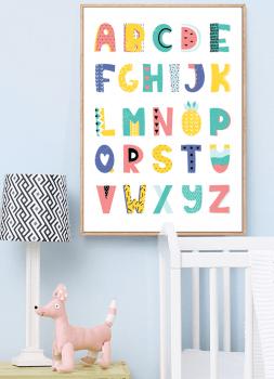 Quadro Infantil ABC Colorido