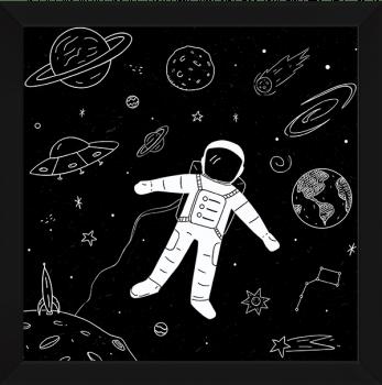 Quadro Decorativo Infantil Astronauta