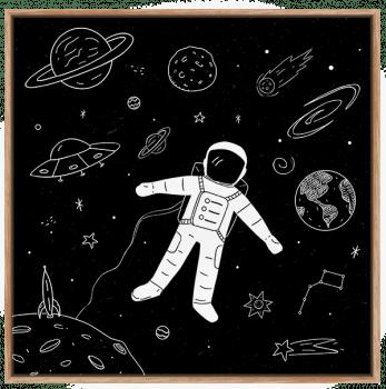 Quadro Infantil Astronauta