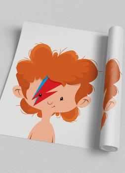 Quadro Infantil Baby Bowie Rock