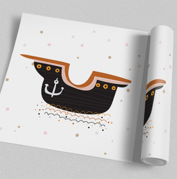 Quadro Decorativo Infantil Barco Pirata