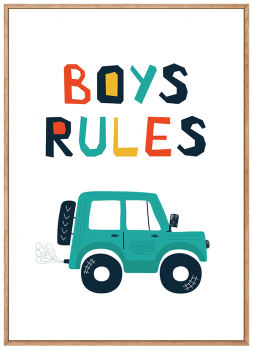 Quadro Infantil Boys Rules
