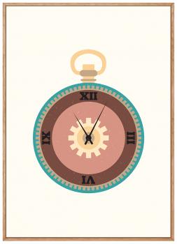 Quadro Infantil Relógio Steampunk