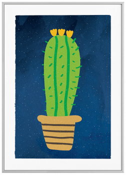 Quadro Decorativo Infantil Cacto 1