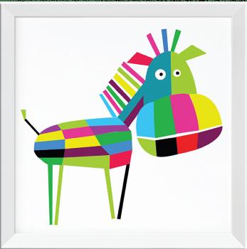 Quadro Decorativo Infantil Cavalo Colorido