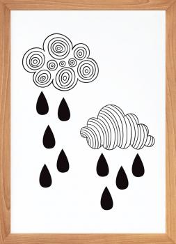 Quadro Decorativo Infantil Chuva Divertida