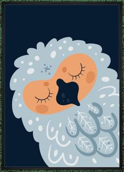 Quadro Infantil Coruja - Série Amor