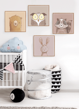 Quadro Decorativo Infantil Coruja Neutro