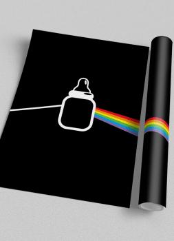 Quadro Infantil Dark Side Pink Floyd Baby Rock