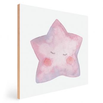Quadro Decorativo Infantil Estrela Aquarela