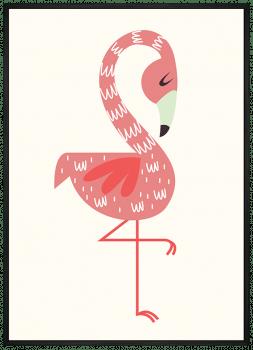 Quadro Decorativo Infantil Flamingo Série Rosa