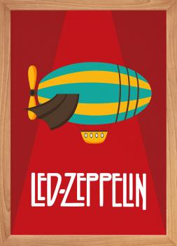 Quadro Decorativo Infantil Led Zeppelin baby rock