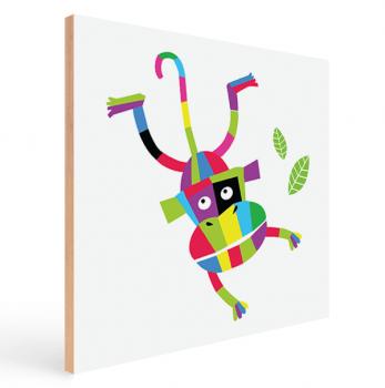 Quadro Decorativo Infantil Macaco Colorido