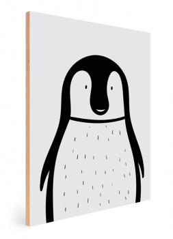Quadro Decorativo Infantil Pinguim - Animais Traço