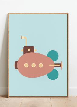 Quadro Decorativo Infantil Submarino Steampunk