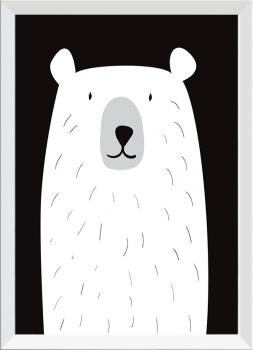 Quadro Decorativo Infantil Urso Branco
