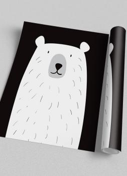 Quadro Infantil Urso Branco