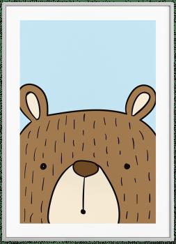 Quadro Decorativo Infantil Urso Color