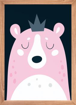 Quadro Decorativo Infantil Urso - Série Amor