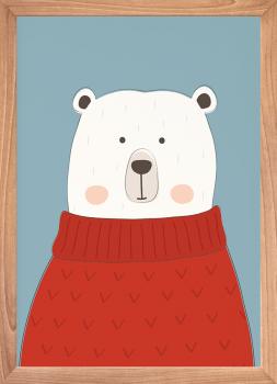 Quadro Decorativo Infantil Urso Polar
