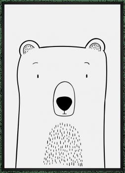 Quadro Decorativo Infantil Urso - Animais Traço