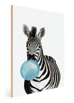 Quadro Decorativo Infantil Zebra Chiclete Bubble Azul