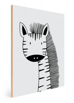 Quadro Decorativo Infantil Zebra - Animais Traço