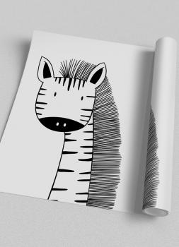 Quadro Infantil Zebra - Animais Traço