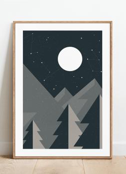 Quadro Decorativo Montanhas Geométricas