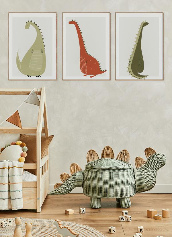 Quadros decorativos infantis - Composição com 3 quadros
