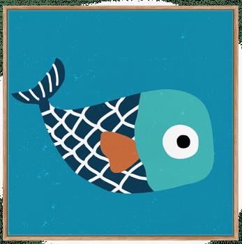 Quadros Decorativos Infantis Mar Peixes - Composição