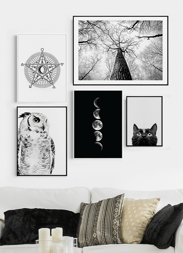 Quadros Decorativos Bruxa Místicos Magia - Composição