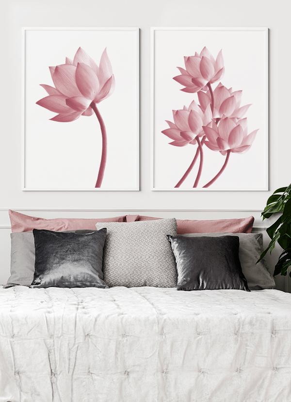 Quadros Flor de Lótus - Composição com 2 quadros