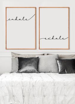 Quadros Decorativos Inhale Exhale - Inale Exale Frase Yoga - Composição com 2 quadros